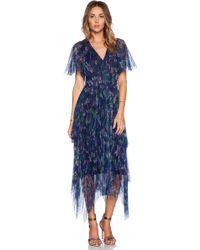 Marchesa Voyage Printed Mesh Dress - Lyst