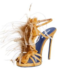 DSquared² Sandal-With-Feathers - Lyst