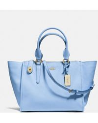 Coach Crosby Carryall In Crossgrain Leather - Lyst