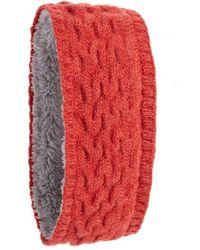 Echo - Braid Knit Headband With Fleece Lining - Lyst