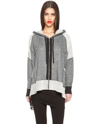 DKNY Jeans Terry Pieced Hoodie - Lyst