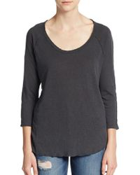 James Perse Inside Out Top - Lyst