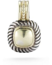 David Yurman Pre-owned 14ky  Sterling Silver Classic Cable Pendant - Lyst
