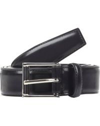 Thom Browne Black Leather Belt - Lyst