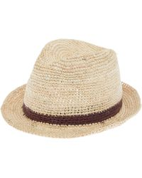 Christys' Cream Bude Crochet Trilby Hat - Natural