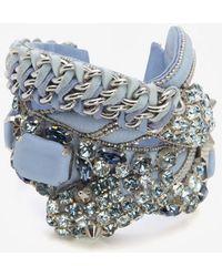 Barbara Bui - Crystal Detail Leather Bracelet - Lyst