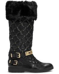 Michael Kors Essex Embellished Quilted Leather Boot - Lyst