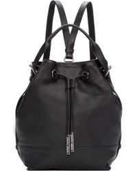 Opening Ceremony - Black Leather Izzy Backpack - Lyst