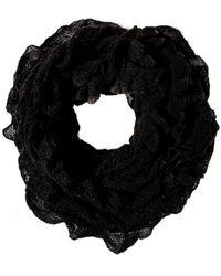 Oasis Black Ruffle Snood Scarf - Lyst