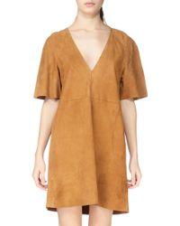 Antik Batik Pencil Dress - Yuri1Dre brown - Lyst