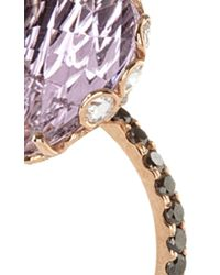 Lito - One Of A Kind 18K Rose Gold Ring With Pink Amethyst - Lyst