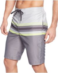Calvin Klein Gradual Striped Eboard Swim Trunks - Lyst