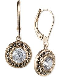 Judith Jack Yellow Gold-plated Marcasite And Cubic Zirconia Leverback Drop Earrings