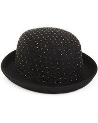 BCBGMAXAZRIA Diamonte Bowler Hat - Lyst