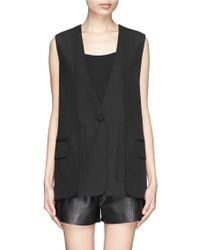 Alexander Wang Wool Suiting Fabric Vest - Lyst