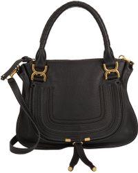 Chlo�� Pure Marcie Hobo Bag in Black | Lyst