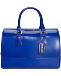 Furla Candy Bauletto Satchel blue - Lyst