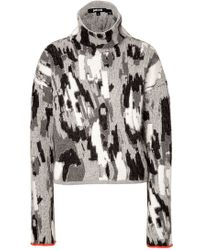 Just Cavalli Angora-wool Blend Turtleneck Pullover - Lyst