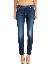 7 For All Mankind Blue Josephina - Lyst