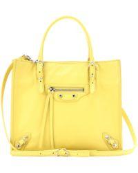 Balenciaga Mini Papier A4 Zip Around Leather Shoulder Bag - Lyst