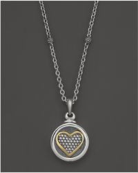 "Lagos - Heritage Locket Caviar™ Beaded Heart Necklace, 16"" - Lyst"