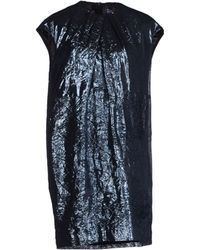 MSGM Blue Short Dress - Lyst