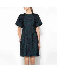 Erdem Cliona Dress Green - Lyst
