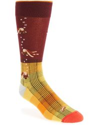Di Pedarius - 'dogs And Plaid' Socks - Lyst