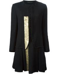 Y's Yohji Yamamoto Black Flared Coat - Lyst