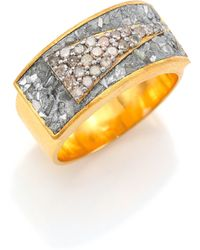 Shana Gulati - Banjara Latur Pave Champagne & Sliced Raw Diamond Ring - Lyst