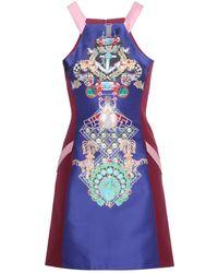 Mary Katrantzou Fenbot Racer Satintwill Dress - Lyst