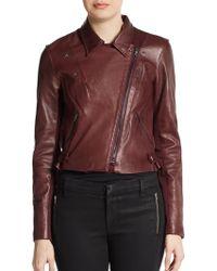 Sachin & Babi Salma Cropped Leather Jacket - Lyst