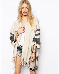 ASOS - Stripe Blanket Cape - Lyst