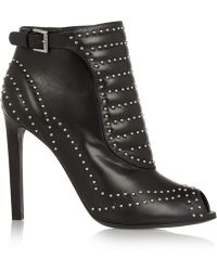Alexander McQueen Studded Leather Ankle Boots - Lyst