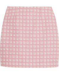 Alexander Lewis - Morningside Cotton-jacquard Mini Skirt - Lyst