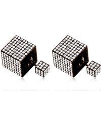 Vita Fede Jumbo Double Cube Earrings - Lyst