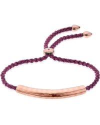 Monica Vinader Esencia Friendship Bracelet - Purple