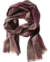Banana Republic Houndstooth Scarf Retro Red - Lyst