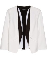Narciso Rodriguez Silk Faille-Trimmed Wool-Crepe Blazer - Lyst