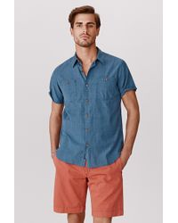 Faherty Brand Ss Heritage Workshirt - Lyst