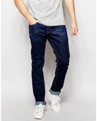 Bellfield - Indigo Rinse Wash Tapered Slim Fit Jeans - Lyst