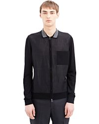 Lanvin Mens Zipped And Collared Jacket - Lyst