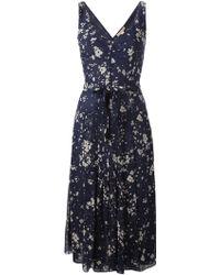 Burberry Brit Printed Midi Flared Dress - Lyst