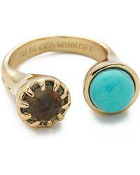 Rebecca Minkoff - Rebecca Minkoff - Gold/Turquoise - Lyst