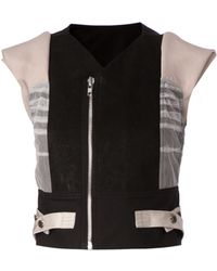 Rick Owens Cropped Gilet - Lyst