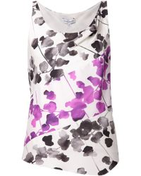 Narciso Rodriguez Floral Printed Tank - Lyst