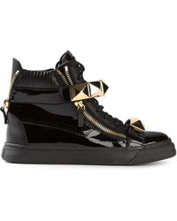 Giuseppe Zanotti Varnished Hitop Sneakers - Lyst
