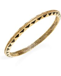 House of Harlow 1960 - Etched Bangle Bracelet - Lyst