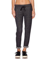 Splendid Reversible Striped Jersey Sweatpants - Lyst