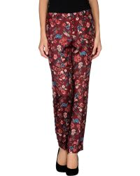 Gucci Red Casual Pants - Lyst